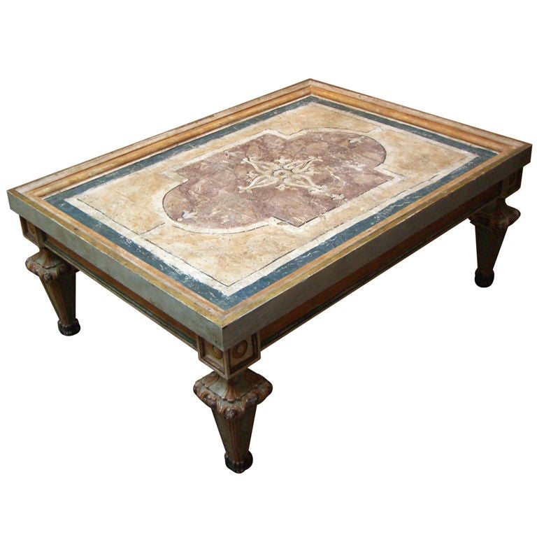 An Italian Baroque Ceiling Panel Coffee Table At 1stdibs