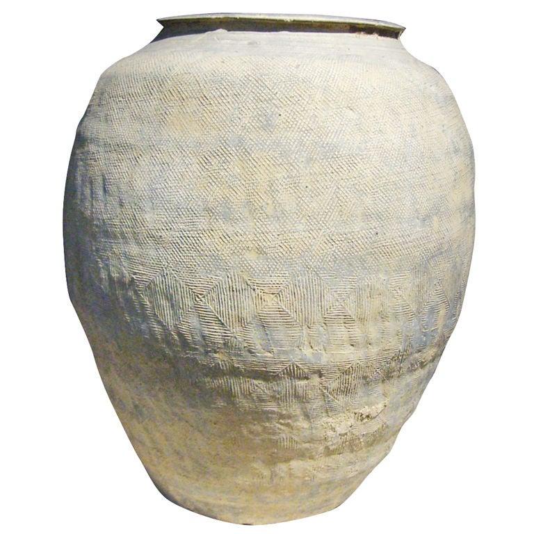 A Chinese Warring States Proto-Porcelain Storage Jar at