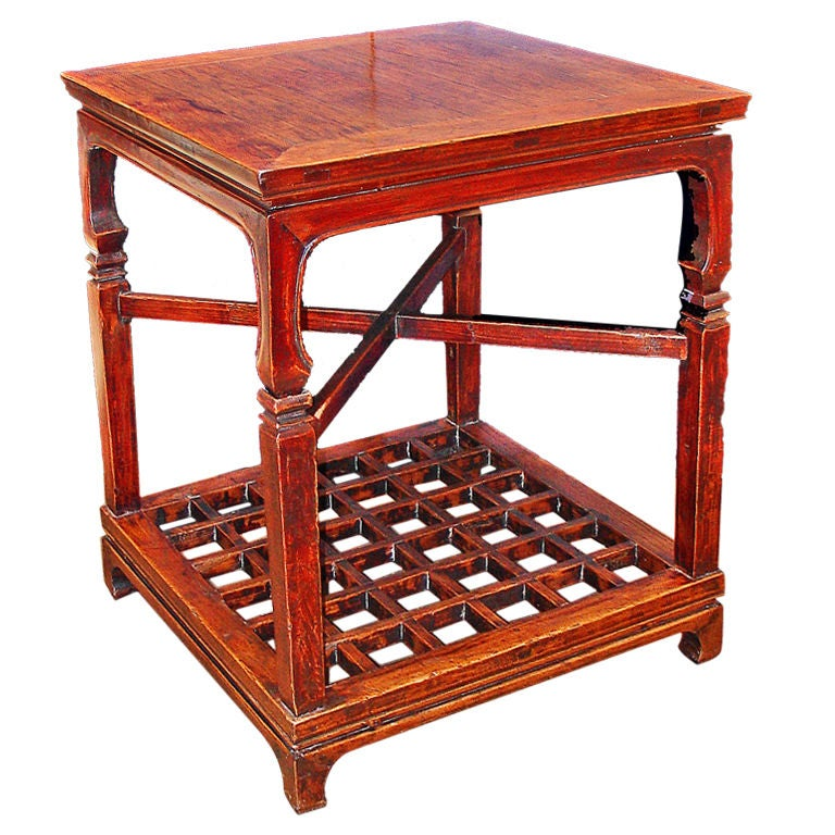 Chinese Two-Tier Side Table
