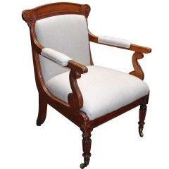 William IV Oak Open Armchair