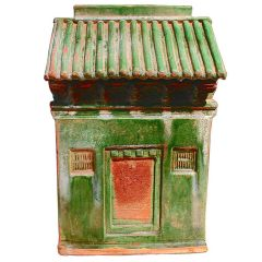 A Ming Dynasty Green Glazed Pottery Architectural Model