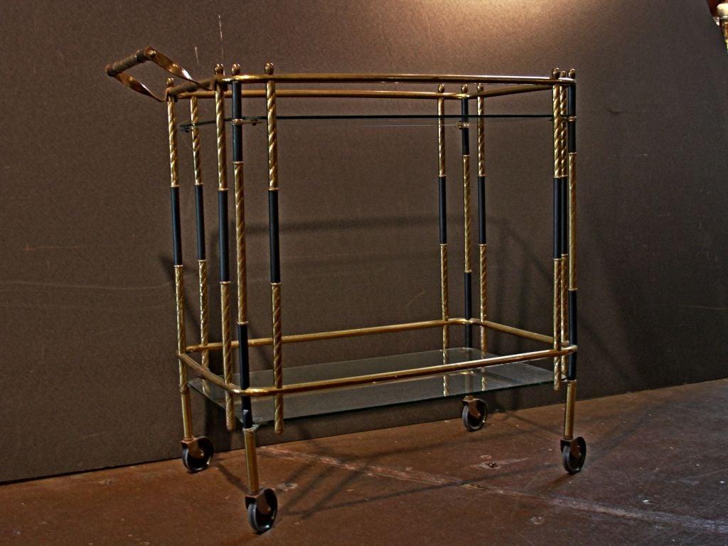 An Art Deco Brass And Enamel Bar Cart At 1stdibs