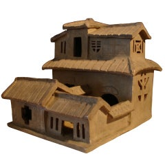 A Han Dynasty Pottery Model of a House