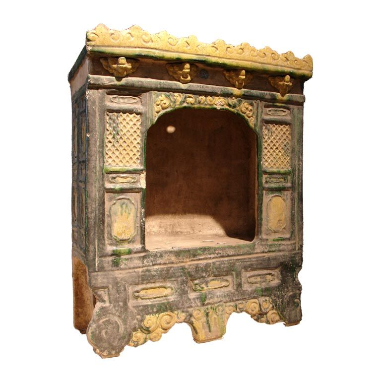 Chinese Ming Dynasty Sancai Glazed Pottery Architectural Model, 16th Century
