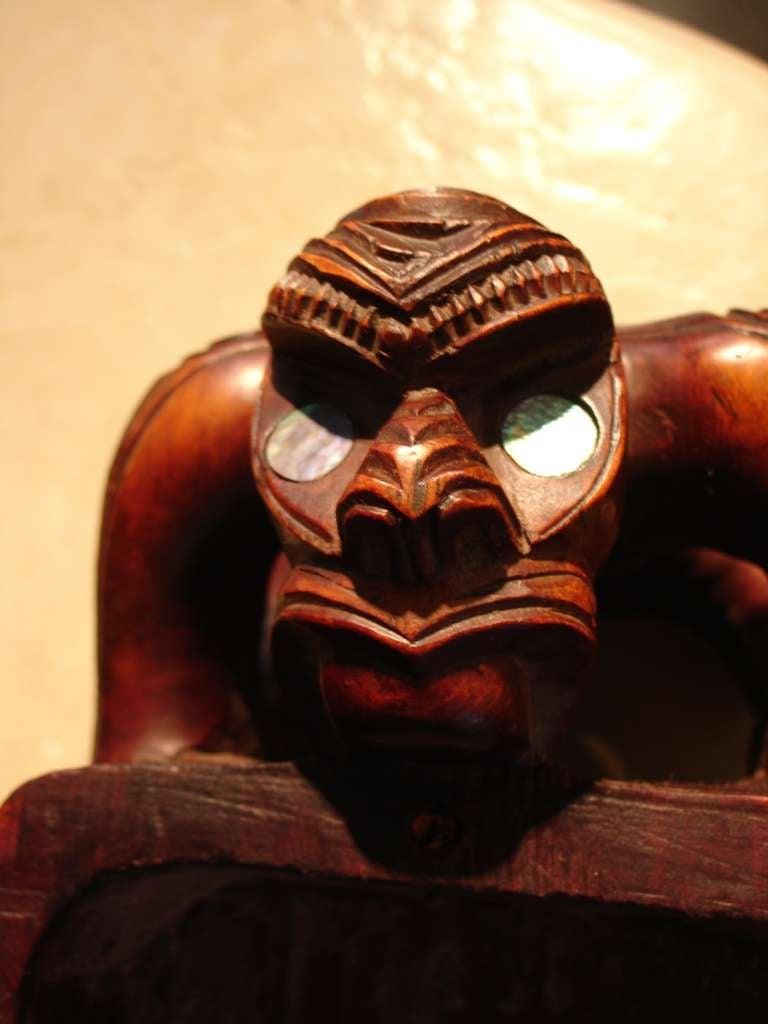 20th Century A Carved Maori Treasure Box For Sale