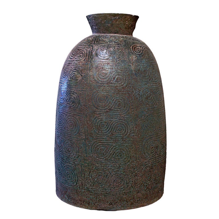 Large Dong Son Culture Ritual Bronze Bell
