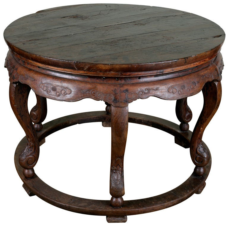 Chinese Round Family Gathering Center Table at 1stdibs