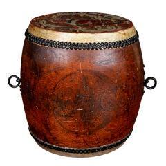 A Japanese Keyaki Wood Taiko Drum