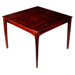 French Art Deco Amboyna Veneered Square Table