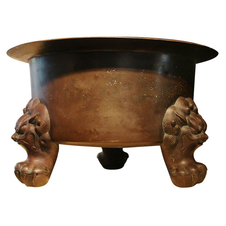 Large Chinese Bronze Tripod Censer