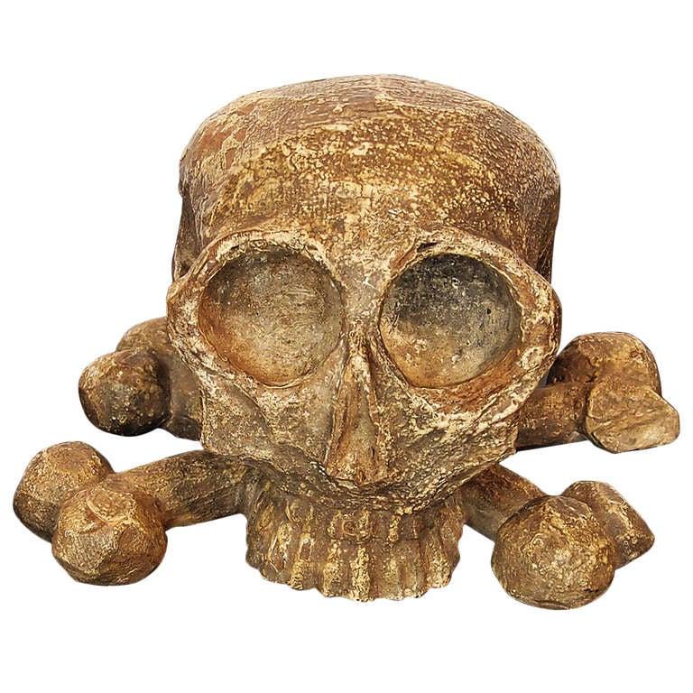 A flemish carved wooden skull and crossbones at stdibs