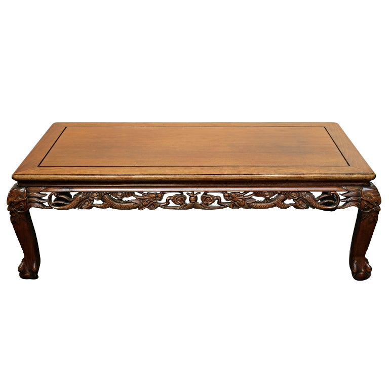Chinese Hardwood Coffee Table For Sale At 1stdibs