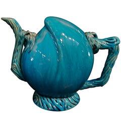 Turquoise Glazed Cadogan Wine or Tea Pot