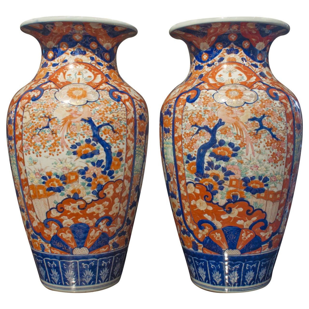 Pair of japanese imari tall vases at 1stdibs pair of japanese imari tall vases for sale reviewsmspy