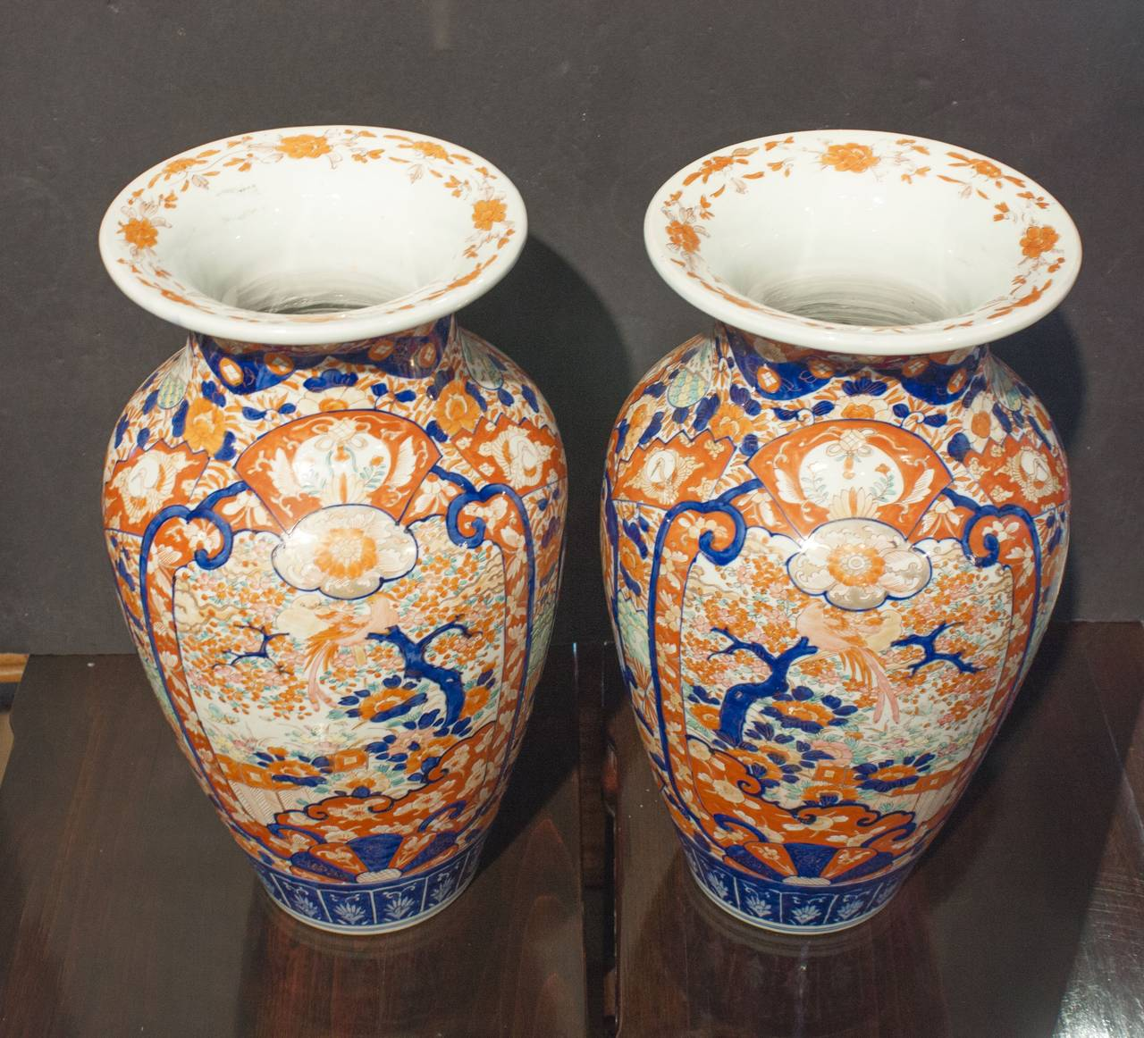 Pair of japanese imari tall vases at 1stdibs meiji pair of japanese imari tall vases for sale reviewsmspy
