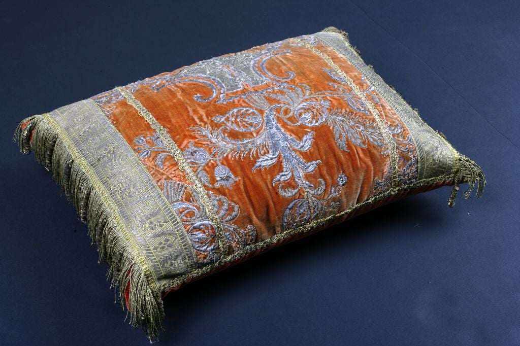 An Ottoman Empire Textile Pillow In Good Condition In Austin, TX