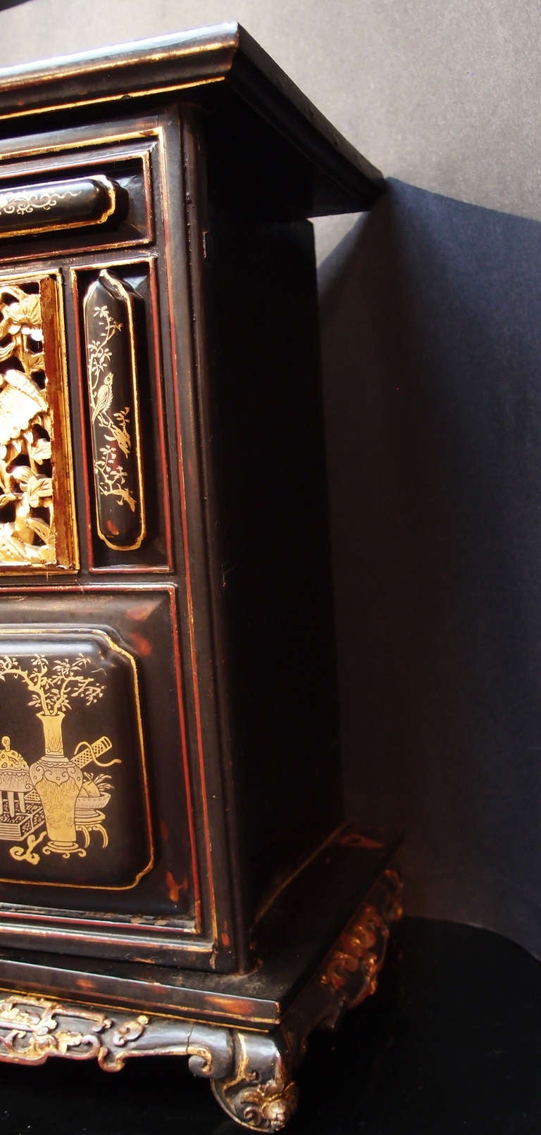 Giltwood Chinese Lacquered and Gilt Shrine For Sale