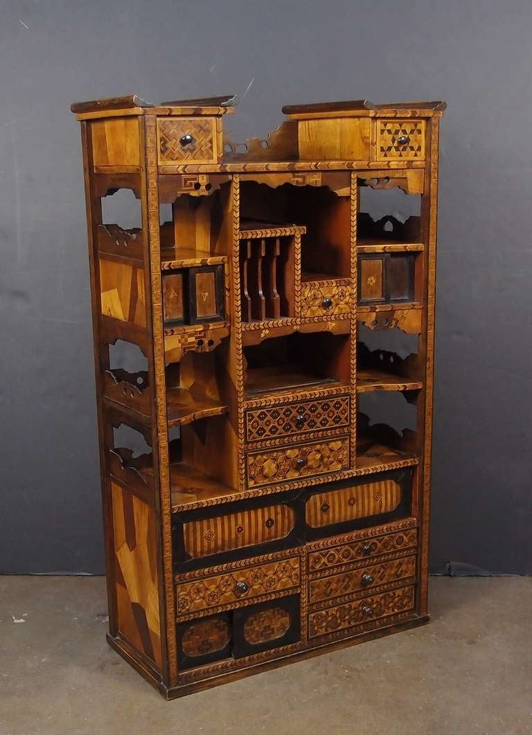 A Japanese Keyaki (Elm) And Marquetry Cabinet (Shadona) 3