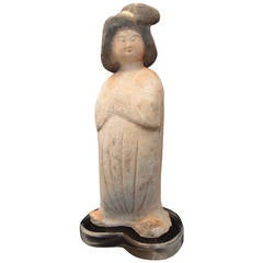 Chinese Tang Dynasty Pottery Court Lady
