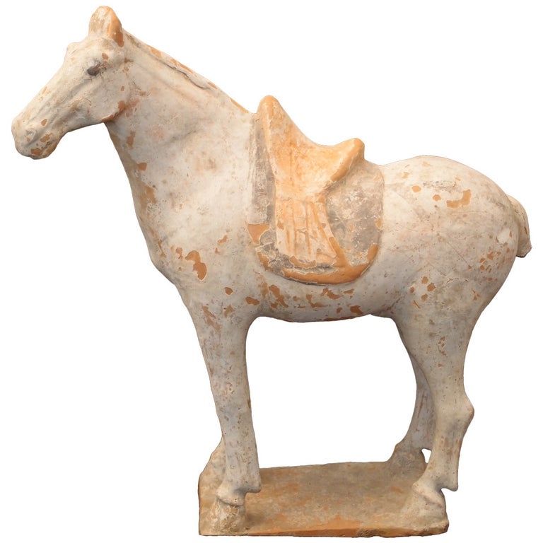 Tang Dynasty Painted Pottery Model of a Horse For Sale
