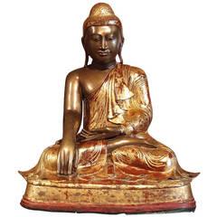 Burmese Mandalay Style Bronze Buddha