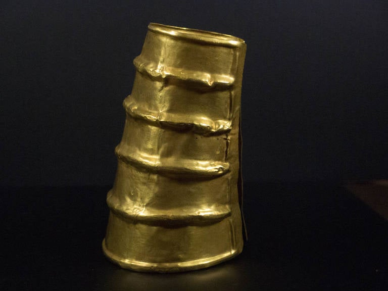Chinese Dian Culture Large Gold Cuff, circa 2nd Century BC, Southern China For Sale 2