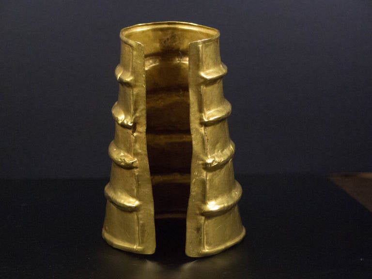 Chinese Dian Culture Large Gold Cuff, circa 2nd Century BC, Southern China For Sale 3