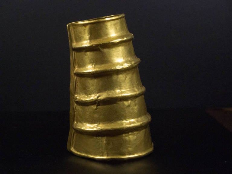Chinese Dian Culture Large Gold Cuff, circa 2nd Century BC, Southern China For Sale 4