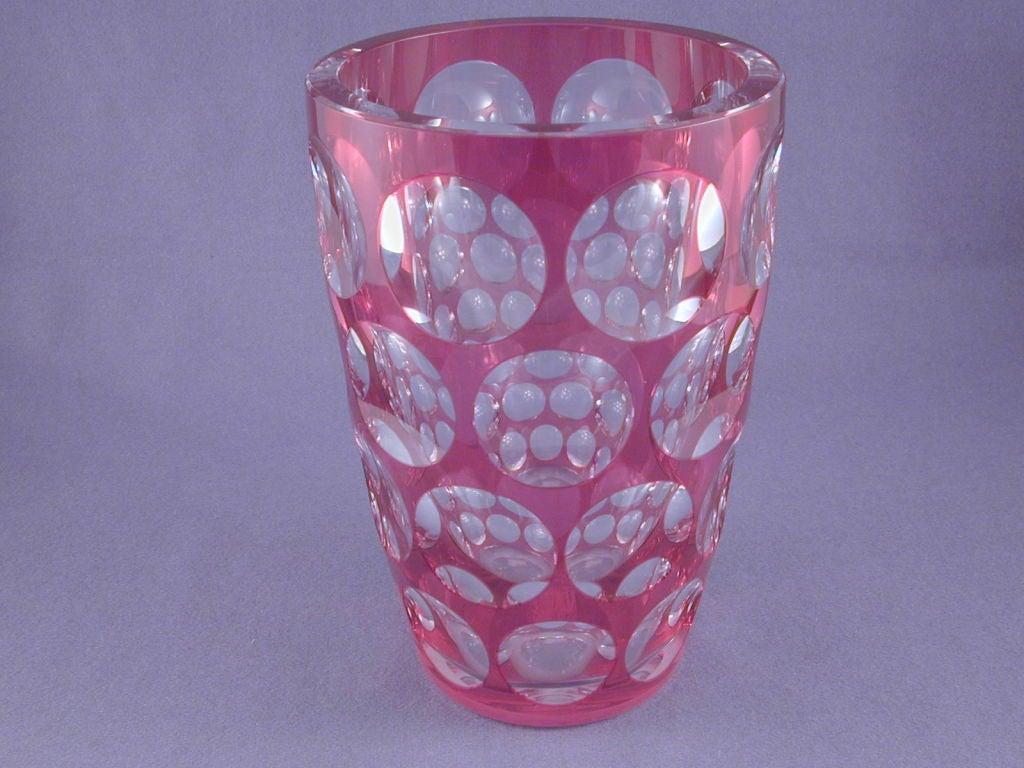 Red Overlay Vase image 2