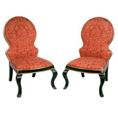 Pair of Continental Transitional Style Side Chairs