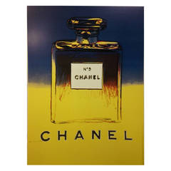 Andy Warhol, Original Chanel Campaign Poster, Paris, 1997 (Blue & Yellow)