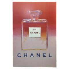 Warhol, Original Chanel Campaign Poster, Paris, 1997 (Pink & White)