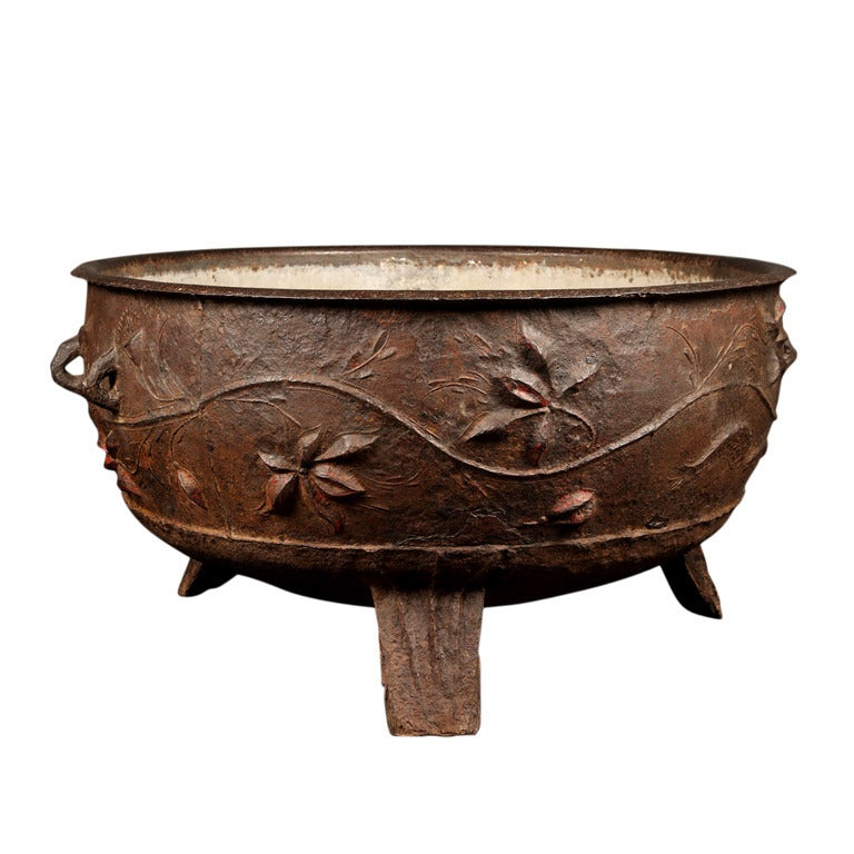A chinese cast iron cauldron at stdibs