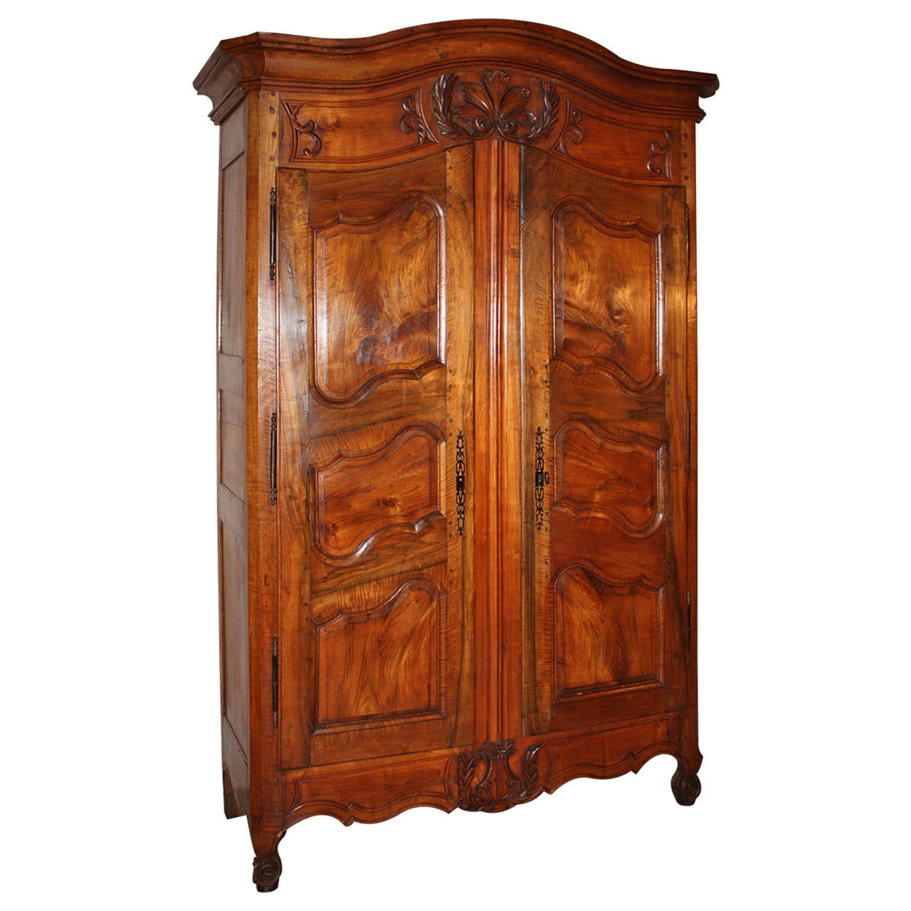 french provincial walnut armoire at 1stdibs. Black Bedroom Furniture Sets. Home Design Ideas