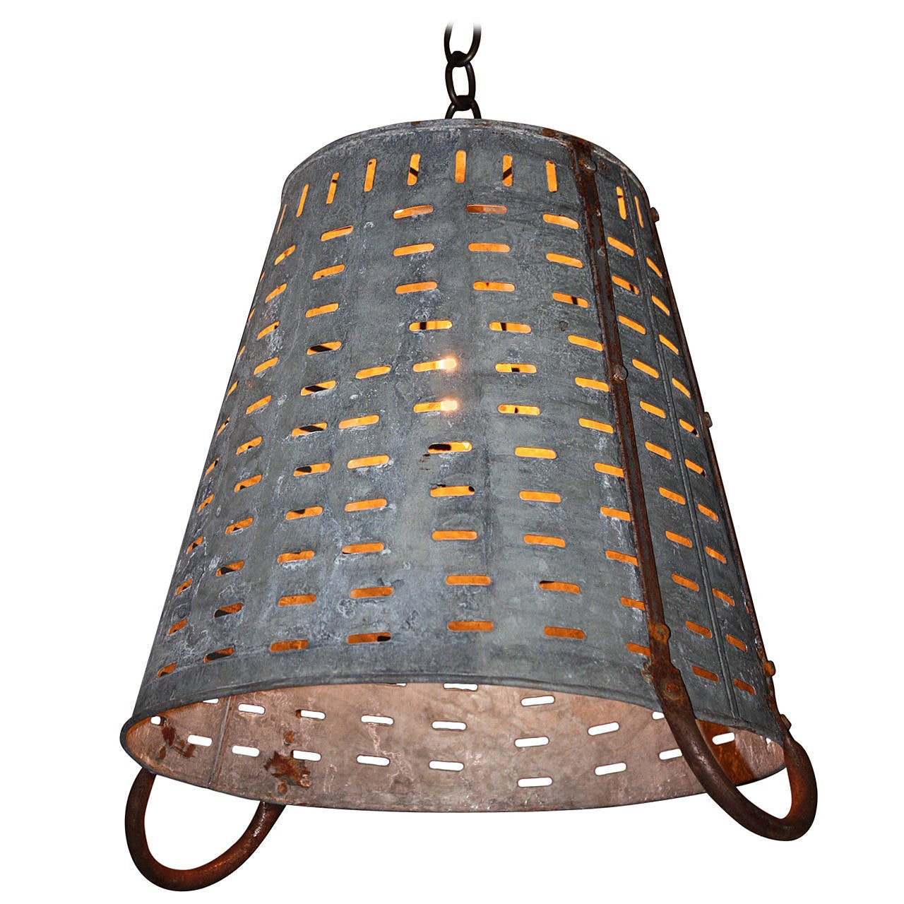 Hanging Olive Basket Light For Sale At 1stdibs