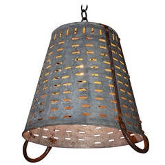 Hanging Olive Basket Light