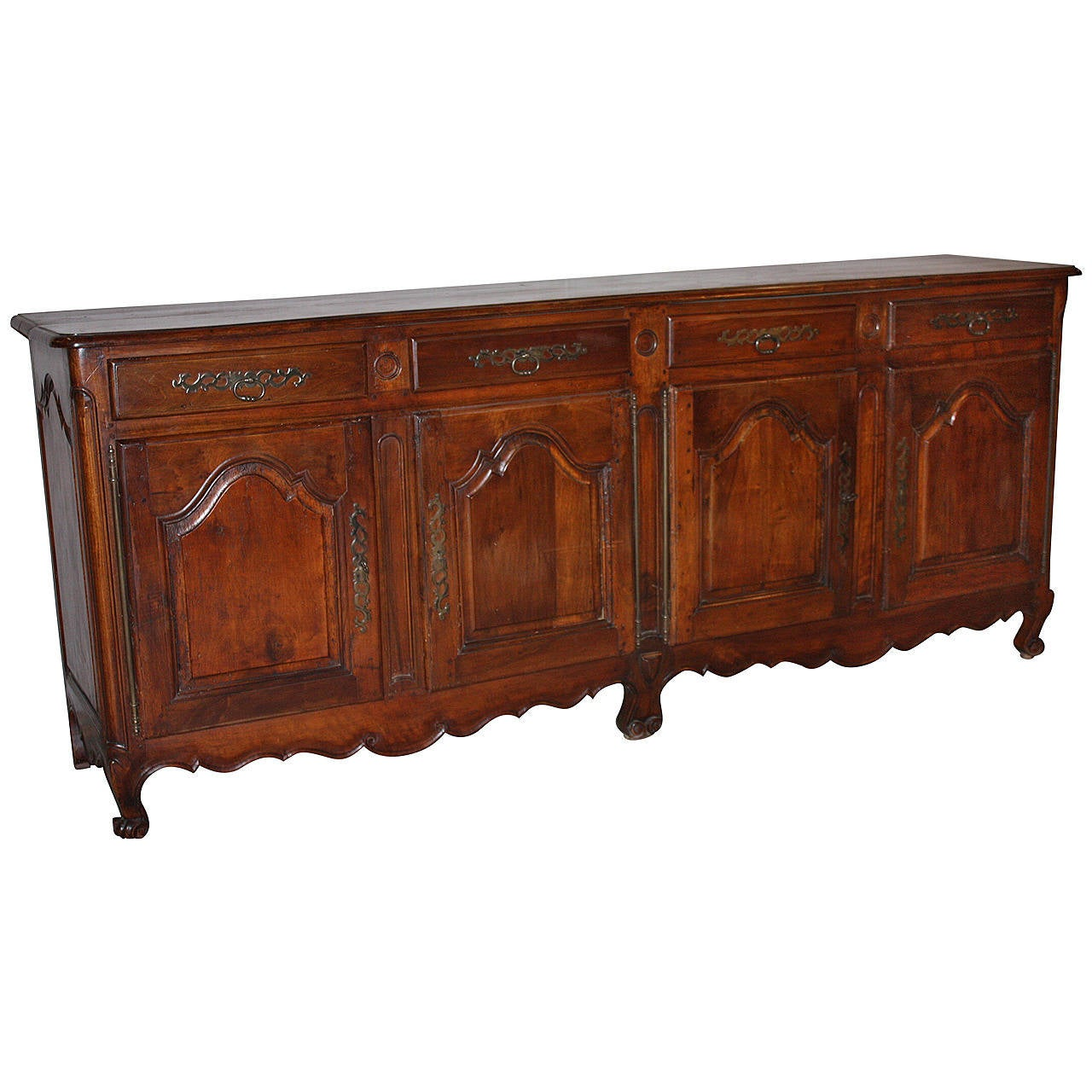 french walnut enfilade at 1stdibs. Black Bedroom Furniture Sets. Home Design Ideas