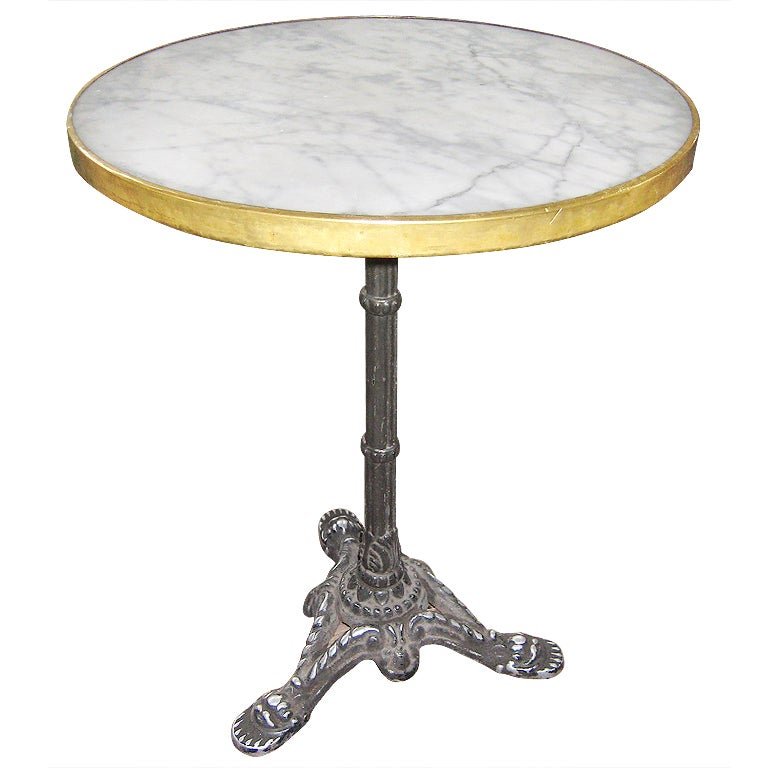 Marble Bistro Accent Table: Marble Top French Bistro Table At 1stdibs