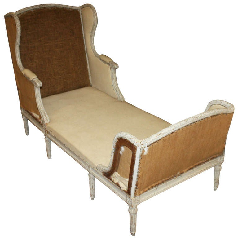 French 19th century chaise lounge at 1stdibs for Century furniture chaise lounge