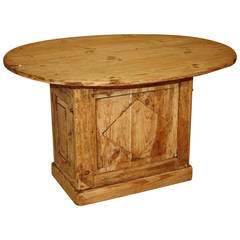 19th Century French Pine Wine Table