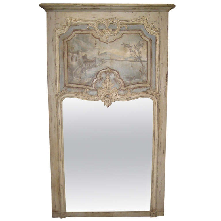 large french trumeau mirror from late 1800 39 s at 1stdibs. Black Bedroom Furniture Sets. Home Design Ideas