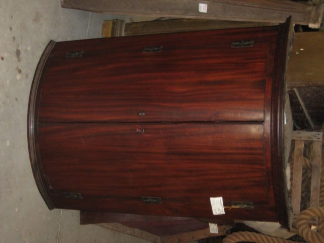 Rounded Front Hanging Corner Cabinet At 1stdibs