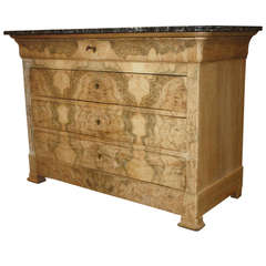 French Burlwood Louis Philippe Commode