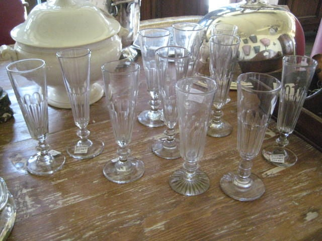 French Hand Blown Champagne Glasses 5