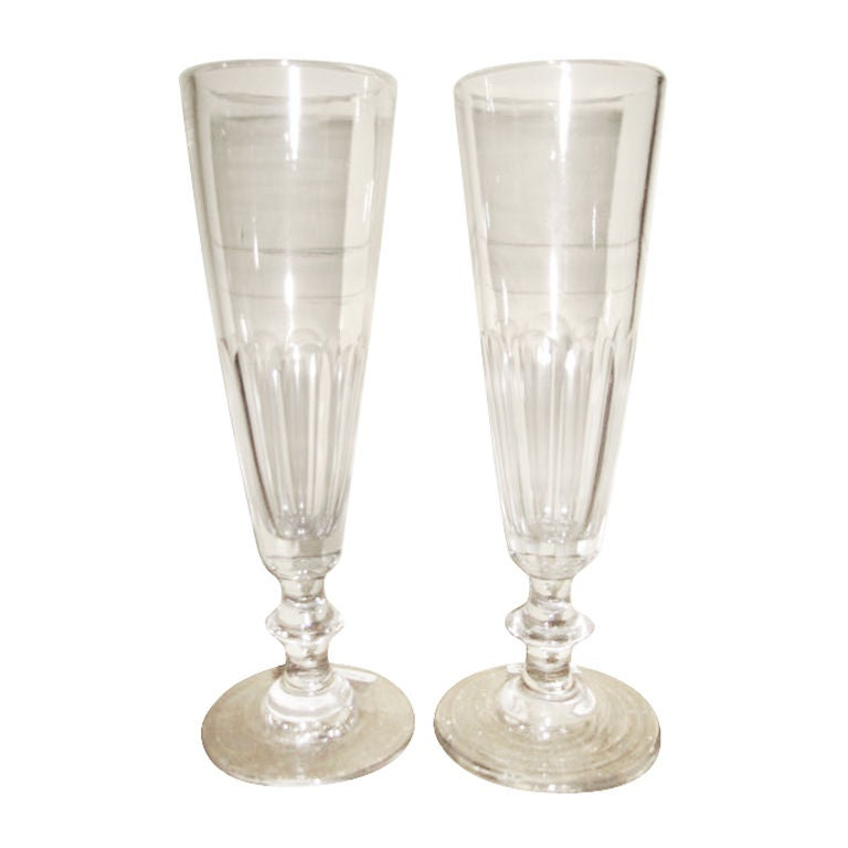 French hand blown champagne glasses at 1stdibs - Hand blown champagne flutes ...