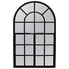 Industrial Iron Window Frame Mirror