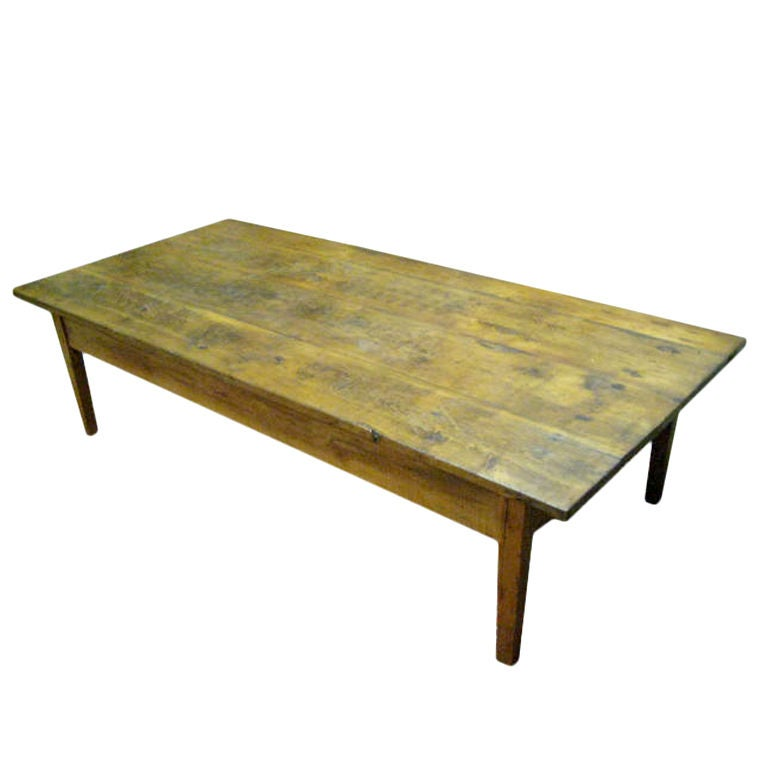 Large French Coffee Table: Large French Farm Coffee Table At 1stdibs