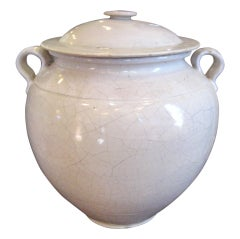 19th Century White French Pot