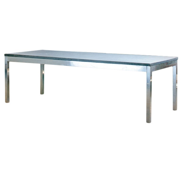1970s useful indoor outdoor aluminium coffee table w slate top at 1stdibs Slate top coffee tables