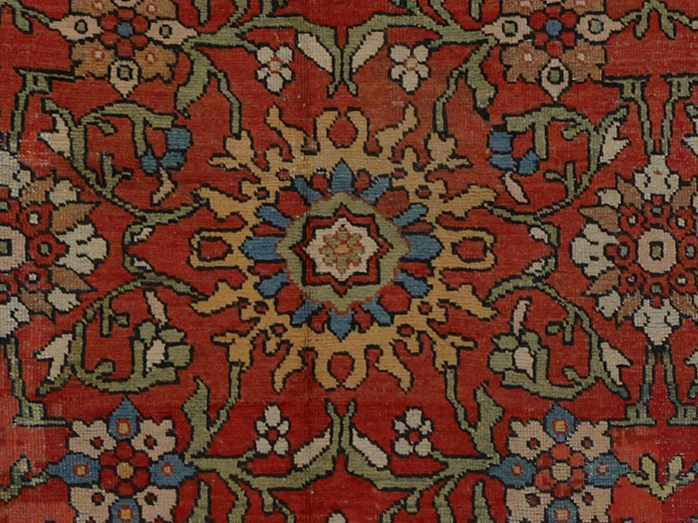 Antique Sultanabad Rug At 1stdibs